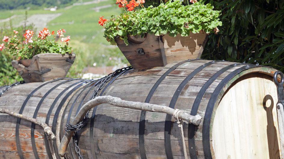 Los barriles como elemento decorativo: ¡una apuesta original!