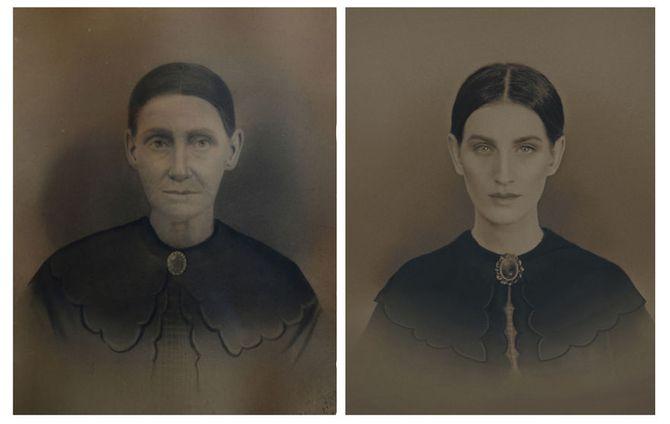 Christine McConnell et son arrière-arrière-arrière-grand-mère