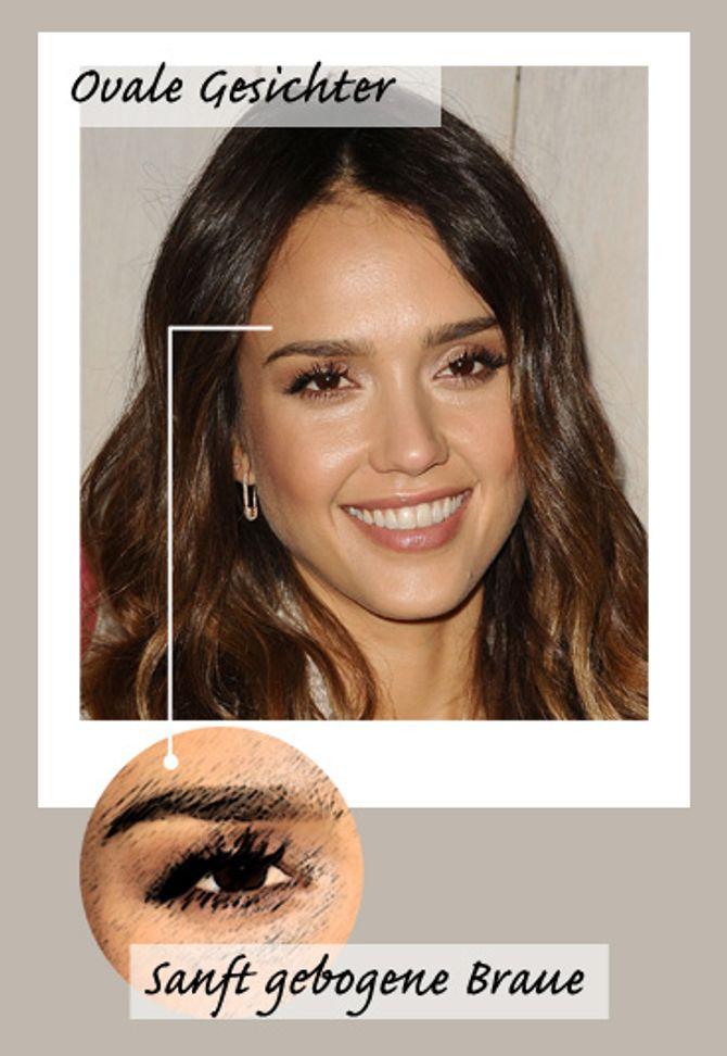Augenbrauen zupfen für ovale Gesichter