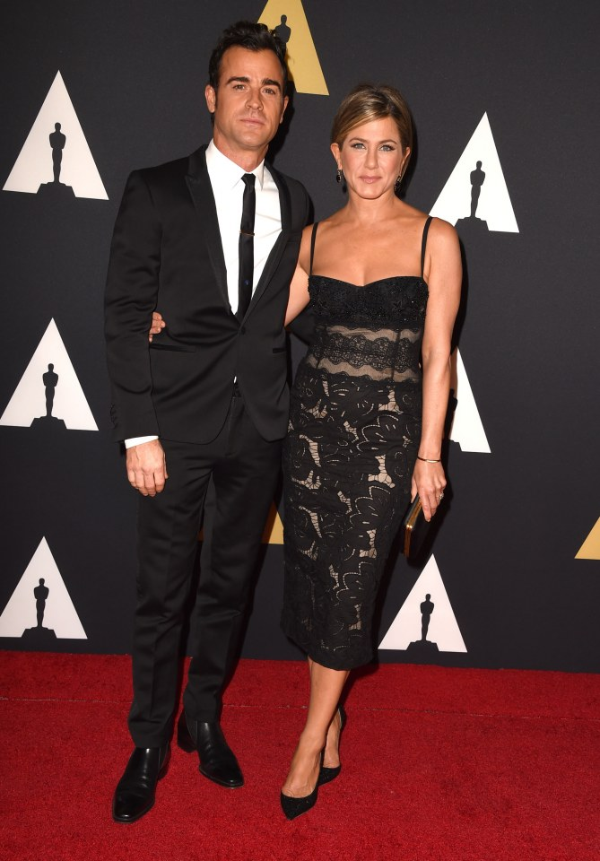 Justin Theroux et Jennifer Aniston aux Oscars.