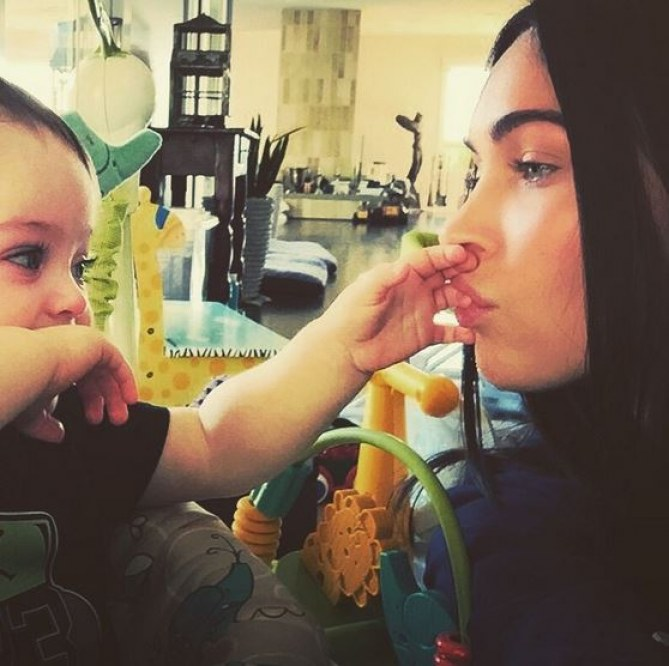 Megan Fox et son petit Bodhi