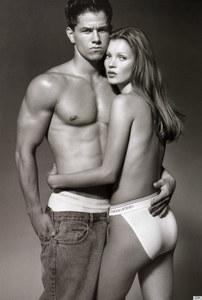 Mark Wahlberg y Kate Moss