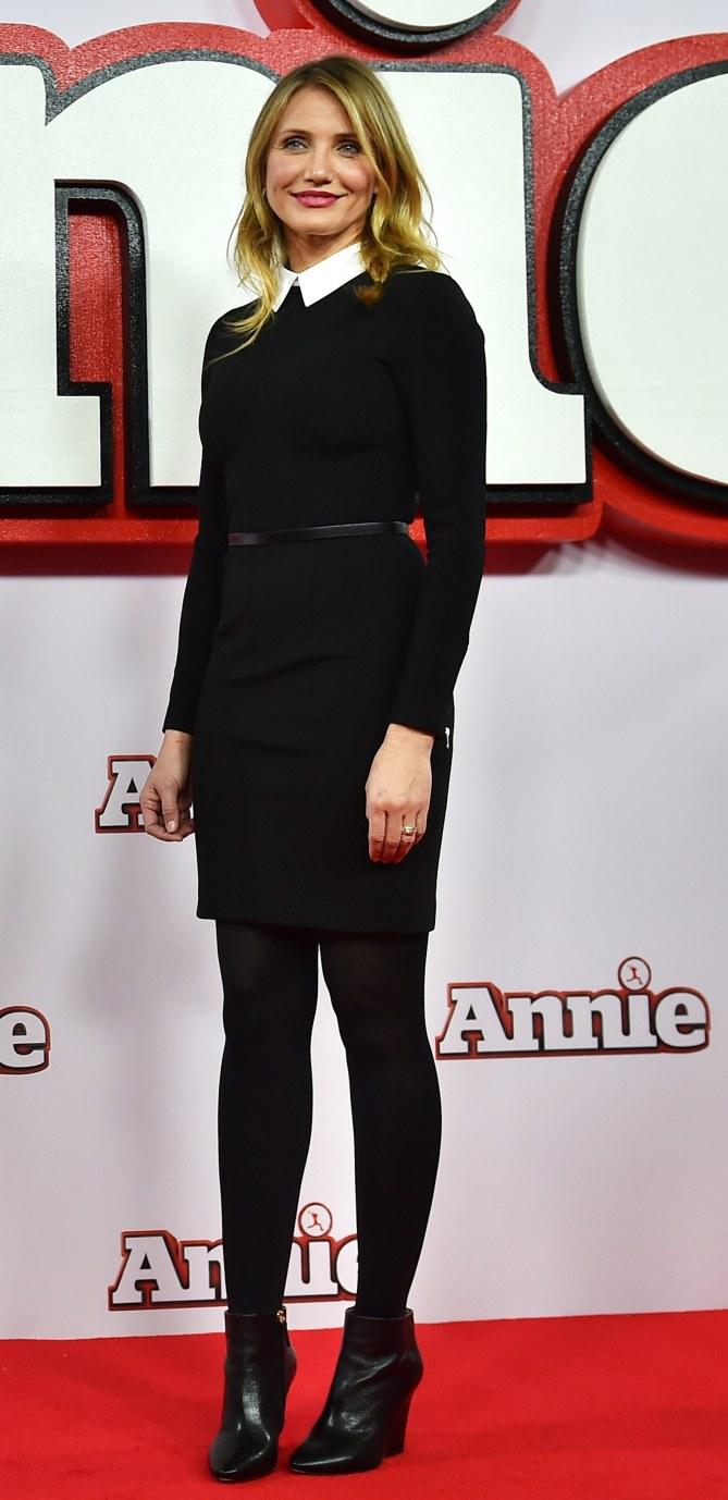 Cameron Diaz à la première de Annie à Londres.