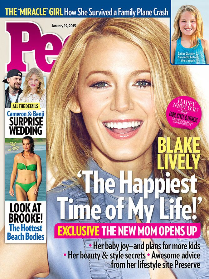 Blake Lively, jeune maman rayonnante pour People
