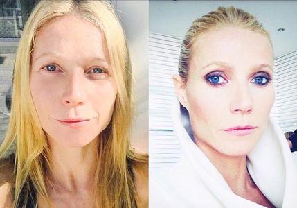 Gwyneth Paltrow avant et après maquillage