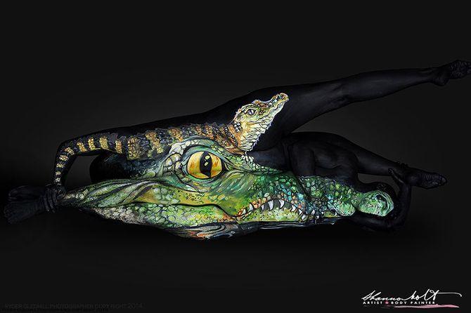 Body painting animal