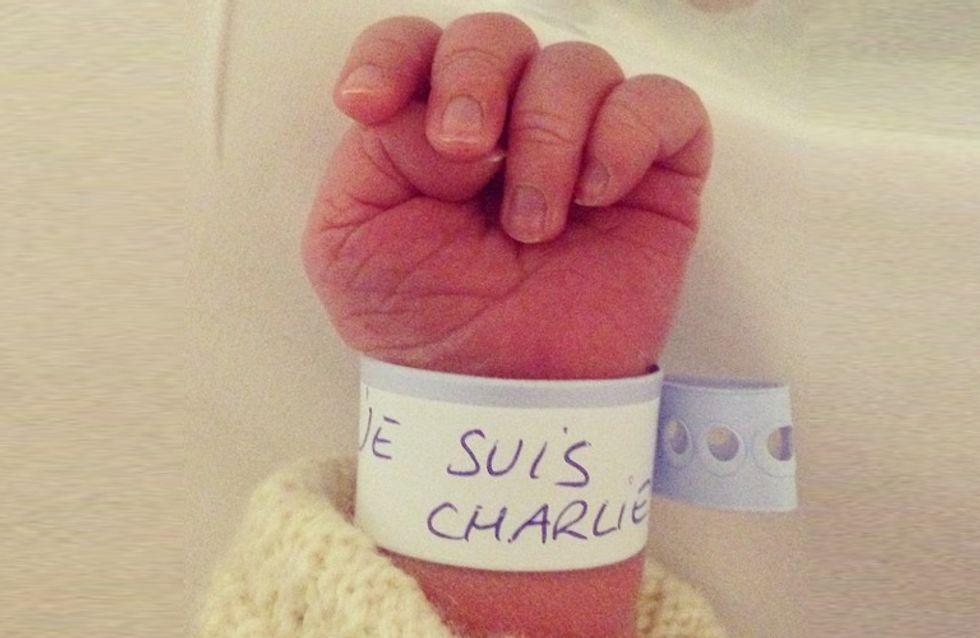 « Je suis Charlie », le message plein d'espoir d'un nouveau-né