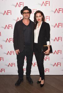 Angelina Jolie et Brad Pitt, en janvier 2015