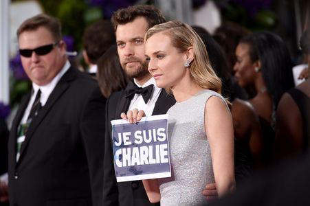 """Diane Kruger et Joshua Jackson, """"Je suis Charlie"""", aux Golden Globes"""