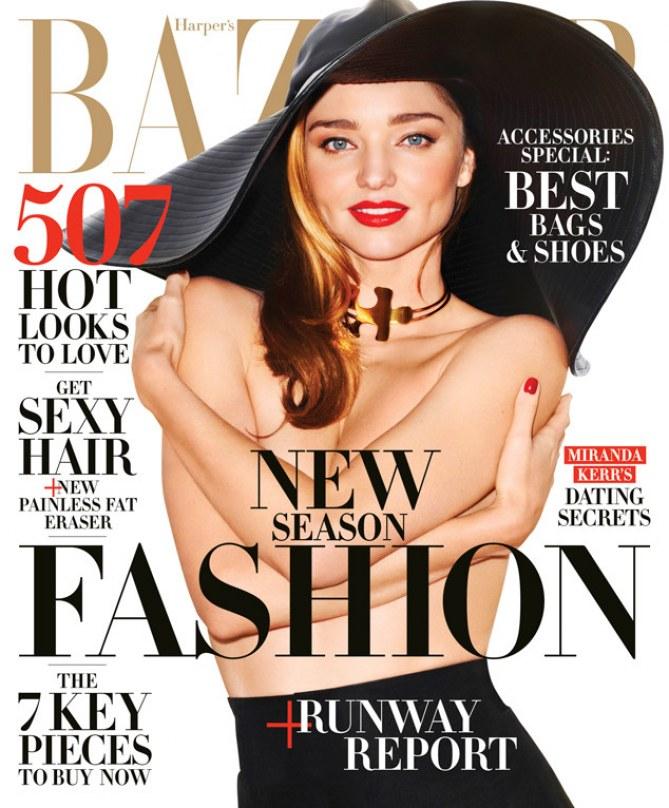 Miranda Kerr pour le Harper's Bazaar.