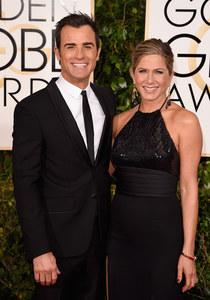 Justin Theroux et Jennifer Aniston aux Golden Globes 2015