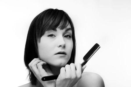 Afeitado facial femenino