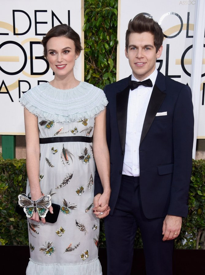 Keira Knightley et James Righton aux Golden Globes 2015