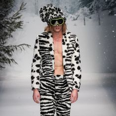 Chez Moschino, les hommes se dénudent pour l'hiver