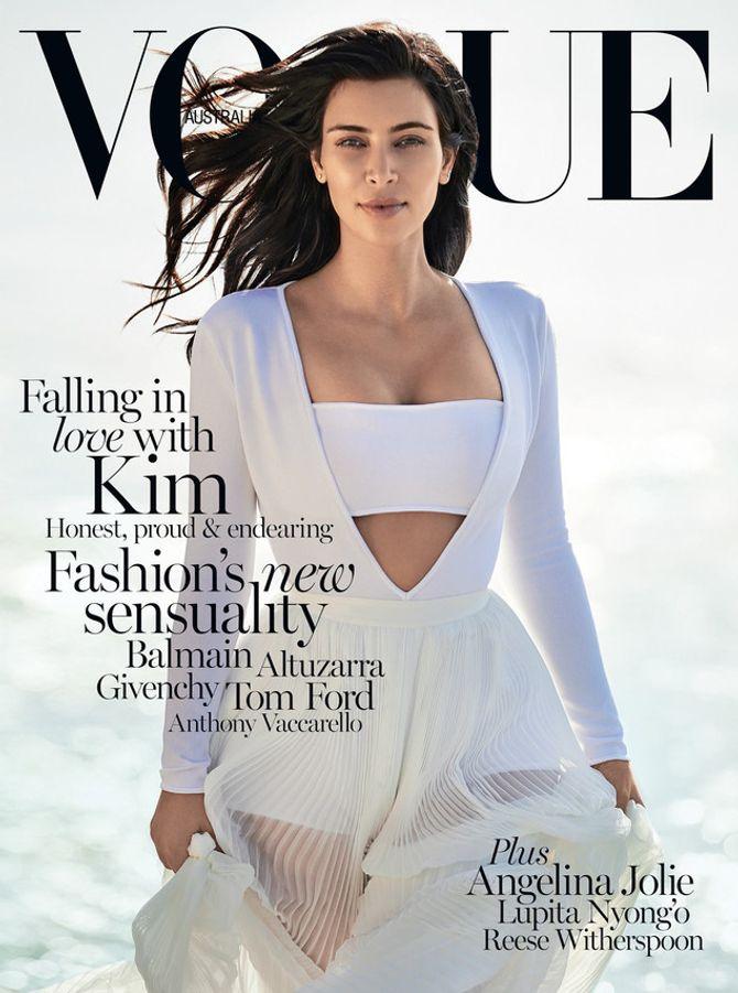 Kim Kardashian en couverture de Vogue Australie