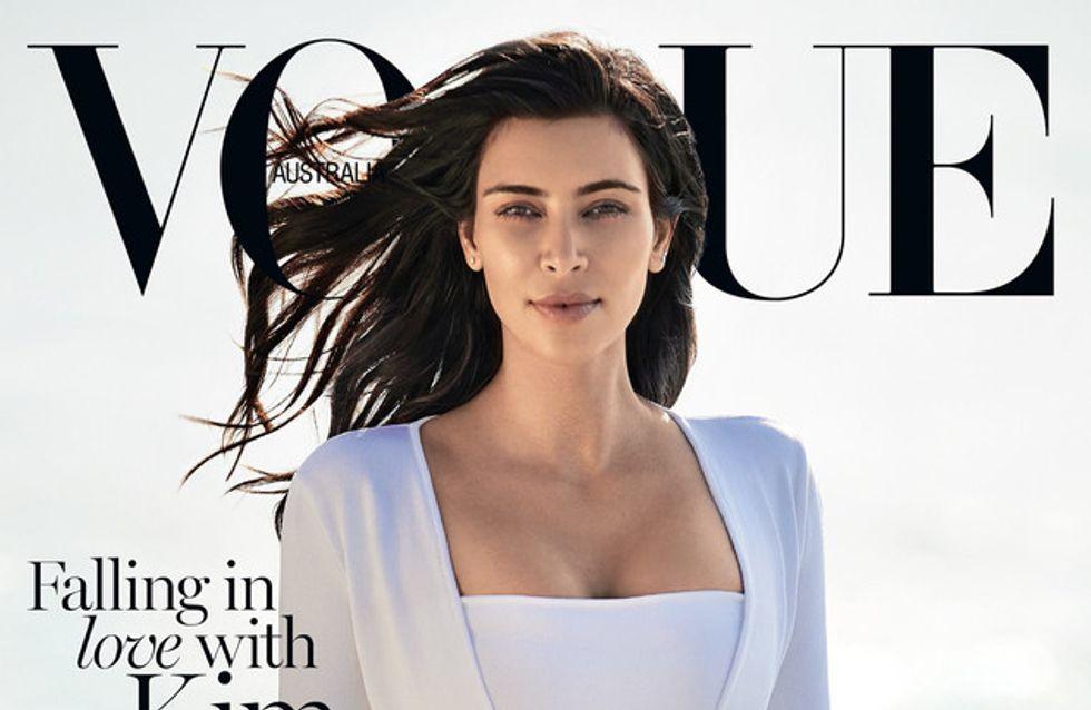 Kim Kardashian fait à nouveau la couverture de Vogue (Photo)