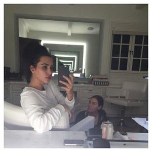 Kim Kardashian au naturel