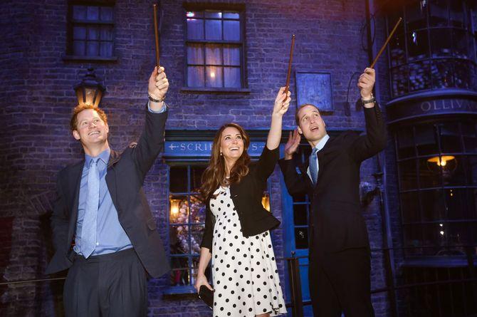 La famille royale au musée Harry Potter.
