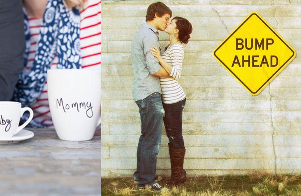 """6 kreative Wege zu sagen: """"Ich bin schwanger"""""""
