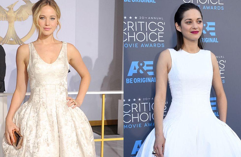 Jennifer Lawrence vs Marion Cotillard : Qui porte le mieux la robe Dior ?