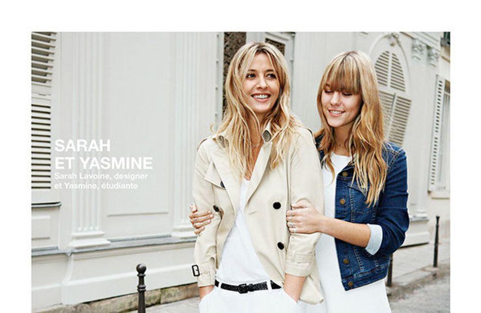 Sarah Lavoine et sa fille Yasmine,complices pour Comptoir des Cotonniers