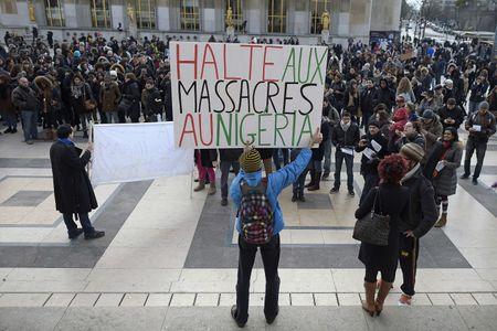 Manifestation contre Boko Haram au Trocadero