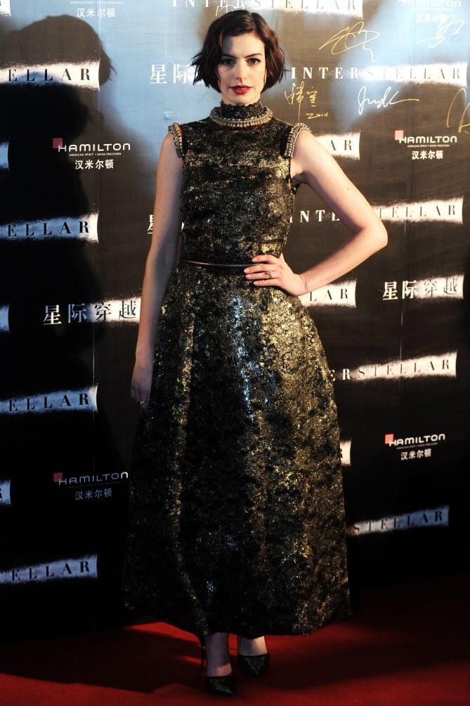 Anne Hathaway sur le red carpet.
