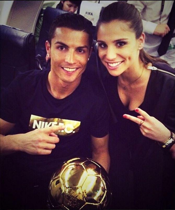 Cristiano Ronaldo y Lucía Villalón