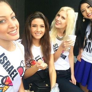 Miss Israël, Miss Liban, Miss Slovénie et Miss Japon
