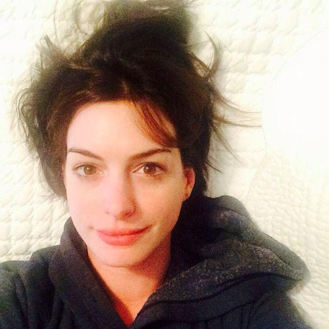 Anne Hathaway au naturel