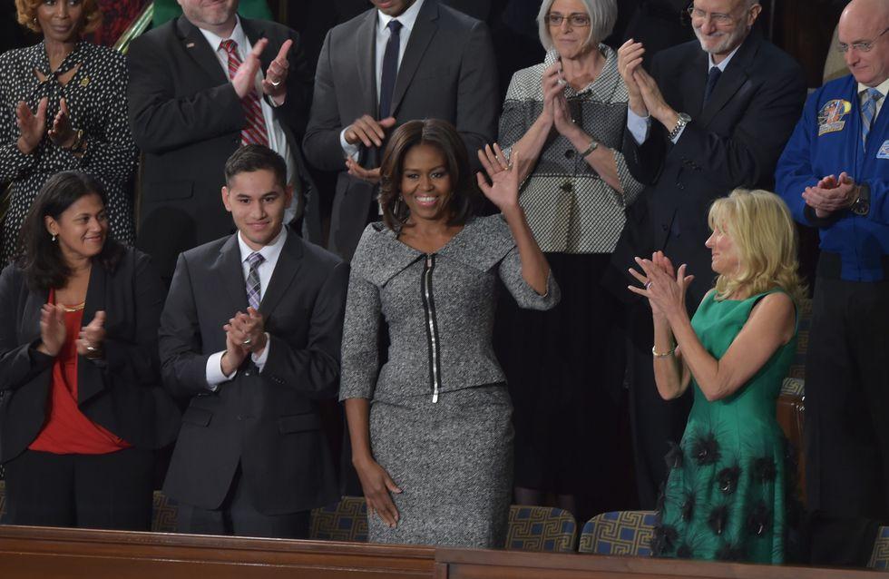 Quand Michelle Obama copie le look d'une héroïne de série télé