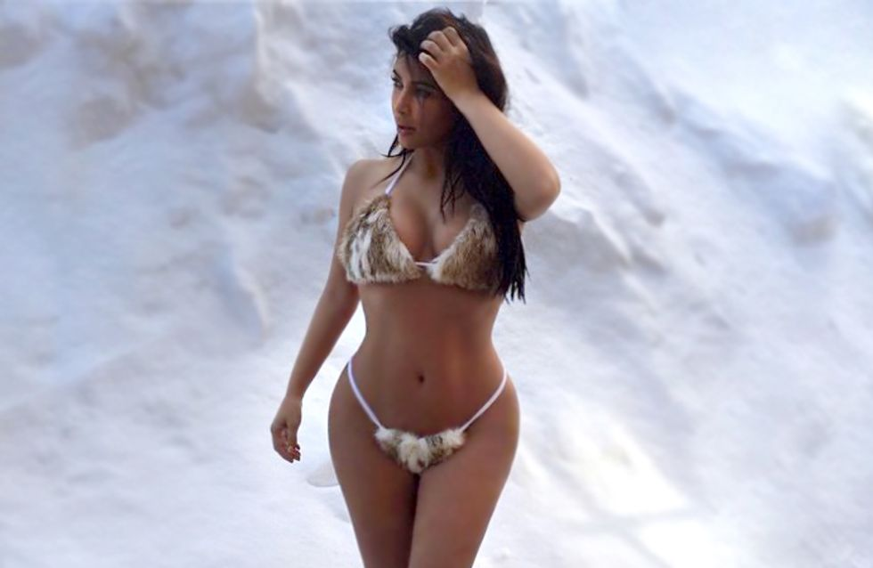 Kim Kardashian en furkini, el peor look de la semana