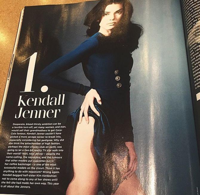 Kendall Jenner dans GQ