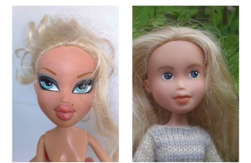 Et si les poupées Bratz s'affichaient elles aussi sans maquillage ?