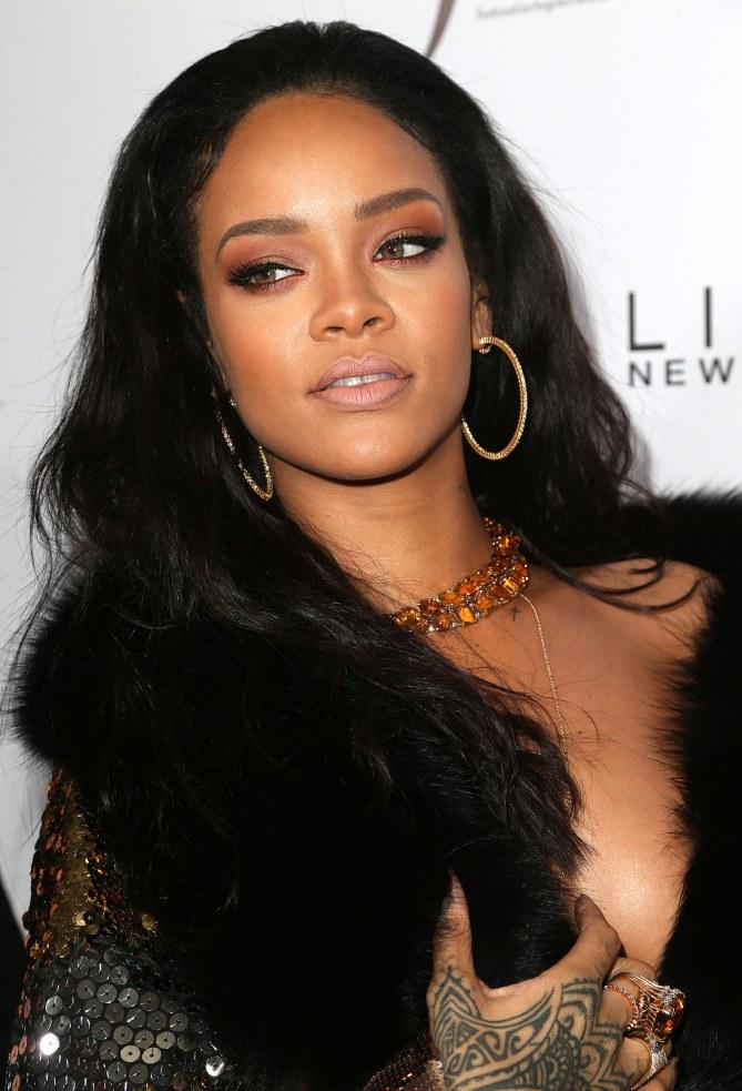 Rihanna à Los Angeles, le 22 janvier 2015
