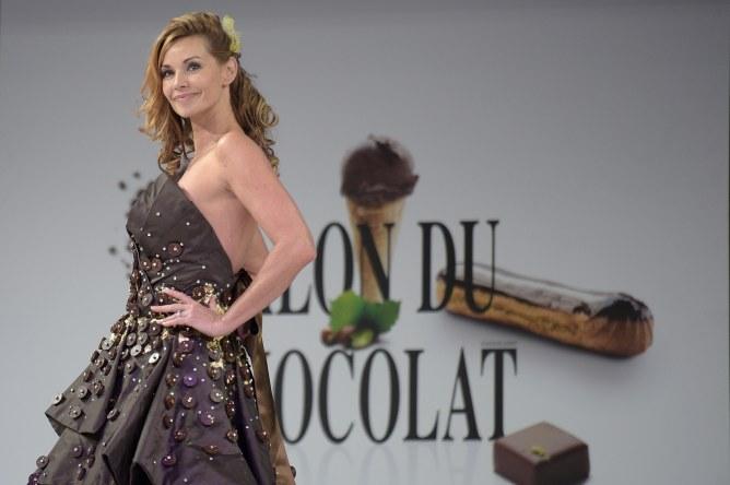 Ingrid Chauvin au Salon du chocolat 2014