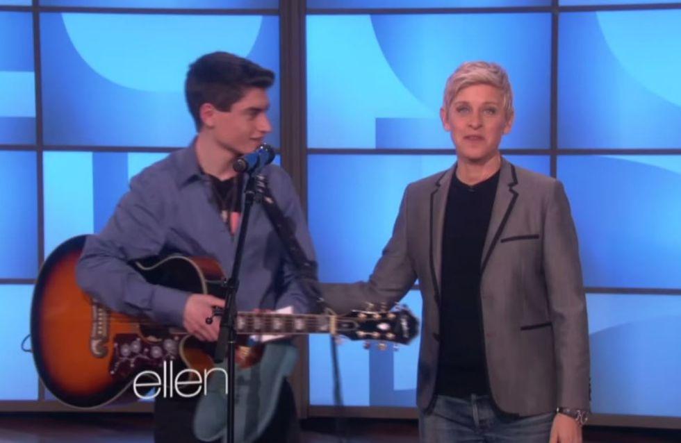 David Thibault, le mini Elvis de The Voice 4, a déjà fait craquer Ellen DeGeneres (Vidéo)