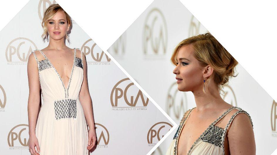 Jennifer Lawrence, déesse grecque sur le red carpet