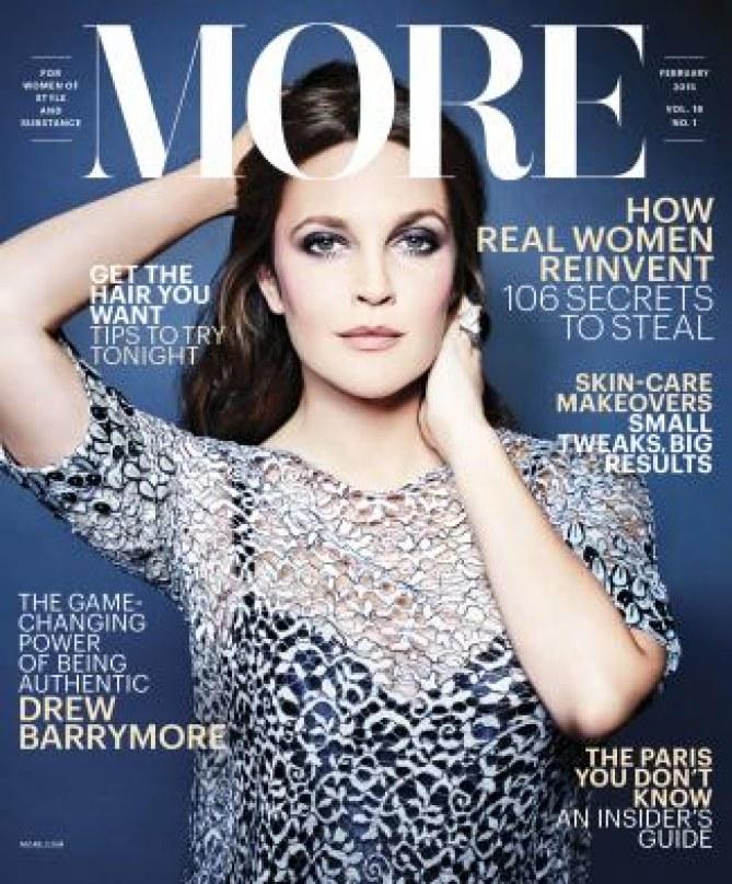 Drew Barrymore pour More.