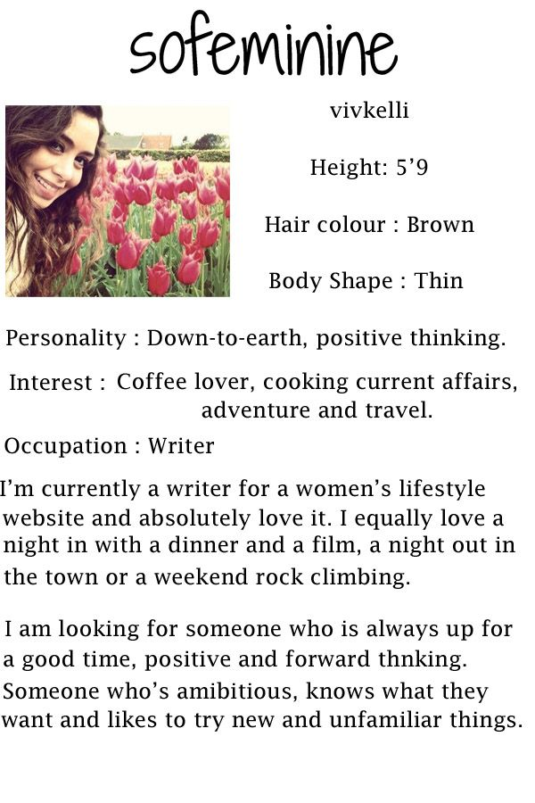 Making a great dating profile