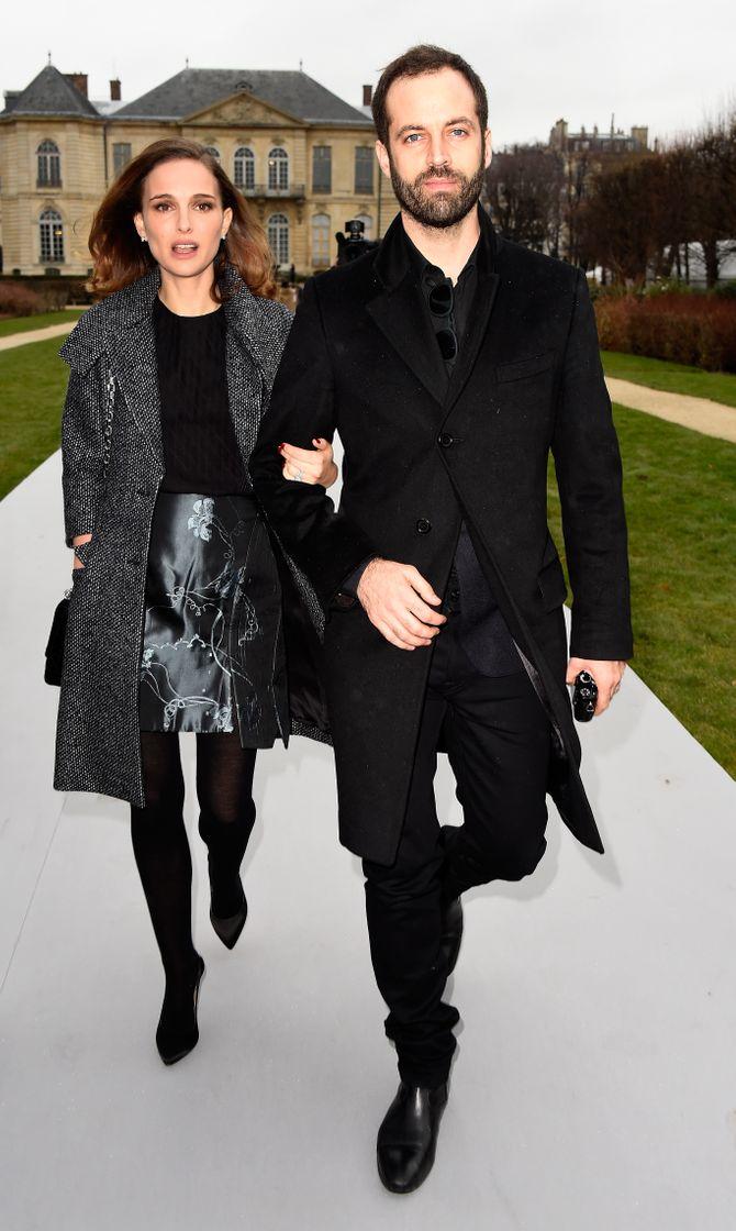 Natalie Portman et Benjamin Millepied au défilé Dior
