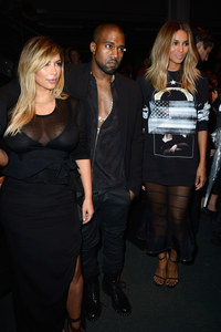 Kim Kardashian, Kanye West et Ciara au défilé Givenchy.