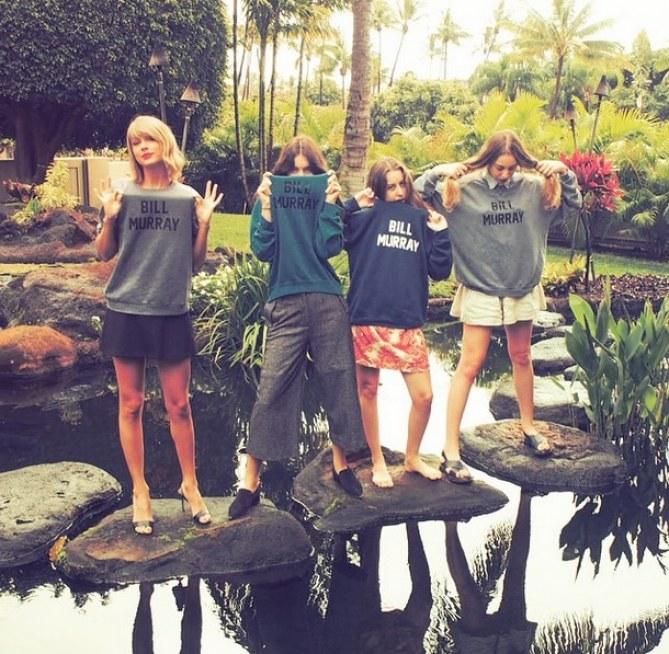 Taylor Swift et ses amies à Hawaii, 2015