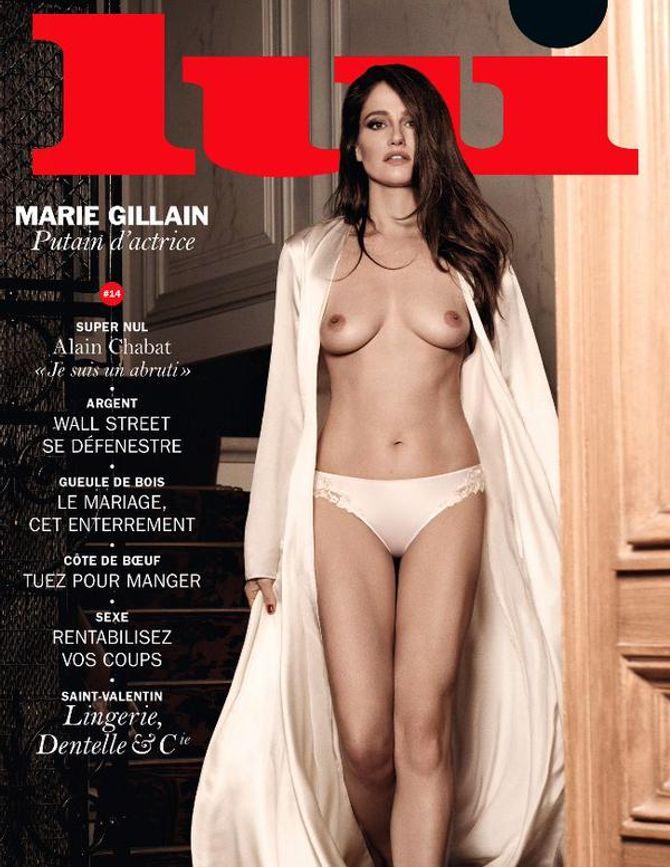 Marie Gillain en couverture de Lui