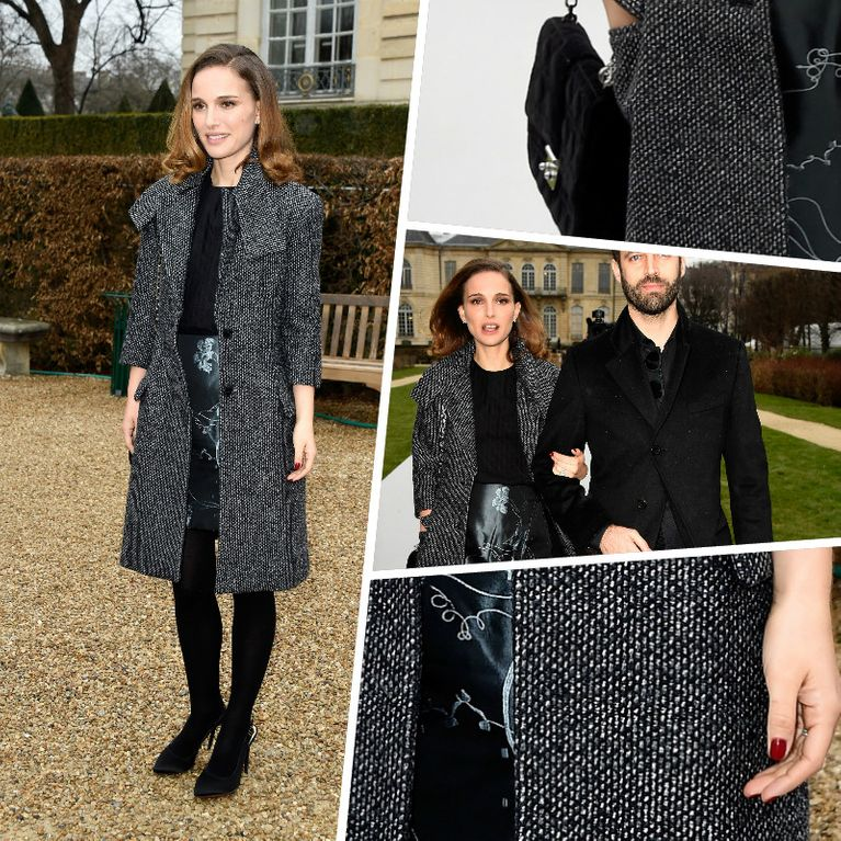 a6a7e548450 Natalie Portman   Un look trendy pour rejoindre le défilé Dior