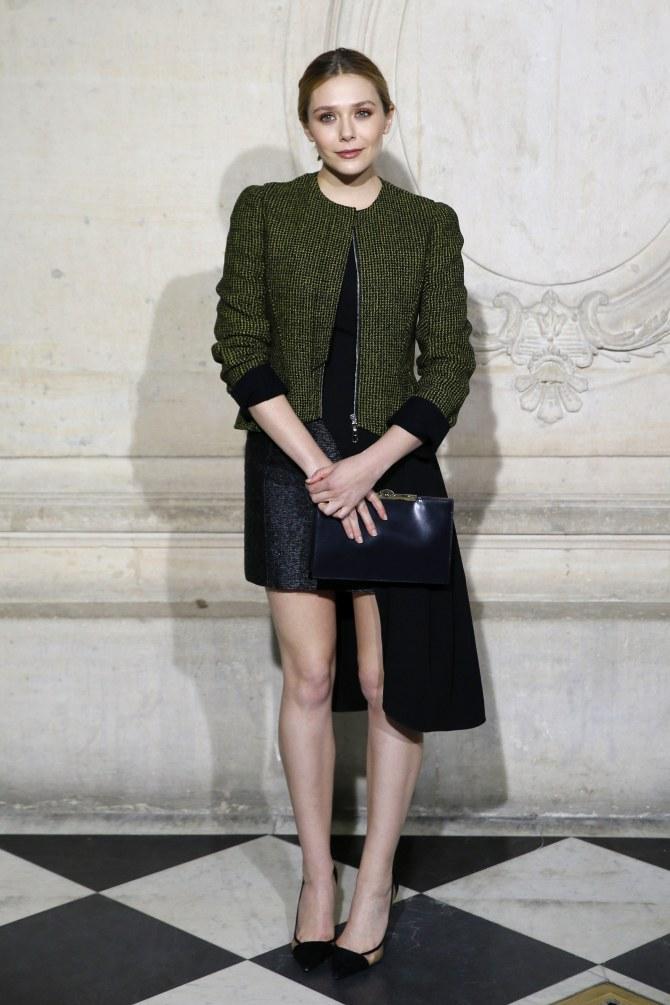 Elizabeth Olsen au défilé Dior printemps/été 2015