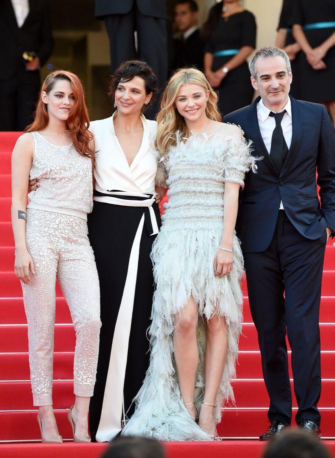 Kristen Stewart, Juliette Binoche, Chloë Moretz & Olivier Assayas, Cannes 2014