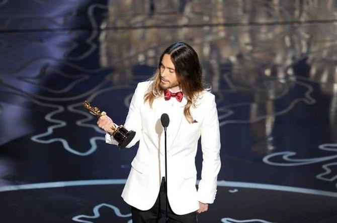 Jared Leto alla premiazione degli Oscar, nel 2014