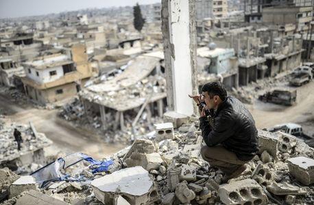 Kobané, en ruines après l'échec des djihadistes pour en prendre le contrôle