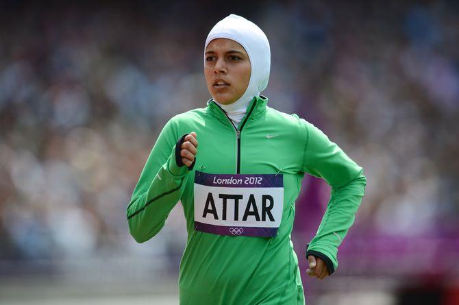 Une athlète saoudienne.